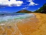 Beautiful Clouds over Hawaiian Beach