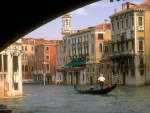 View of Venice from under Bridge