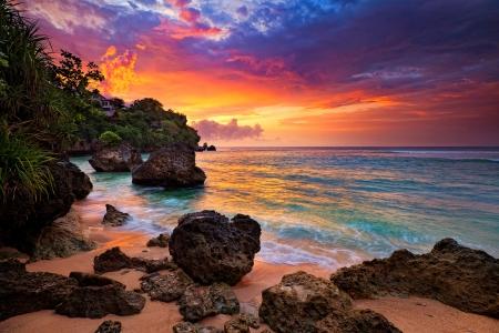 Comments On Sunset At Hidden Beach Bali Beaches Wallpaper