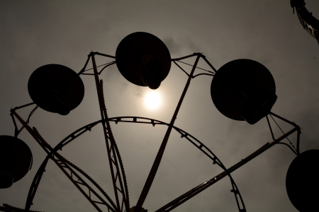 Ferris Wheel Silhouette - Ferris Wheel Silhouette, county fair, ferris wheel, shadow, silhouette