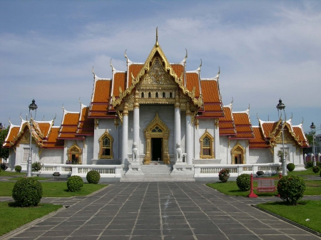 Wat Benchamabophit, Thailand - architecture, impressive buildings, buildings, beautiful buildings, thailand
