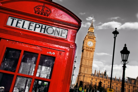 London - telephone, city, england, london, big ben