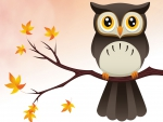 Autumn Vector Owl