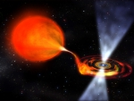 Pulsar and red giant star