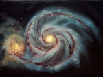 Irregular and spiral galaxy