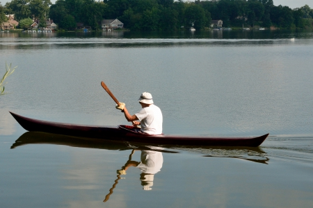 Kayak on the lake - kayak, lakeside, scenic lake, meyers lake, lakeshore, Kayak on the lake, kayaking