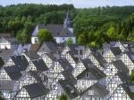 Rows of Houses in German City