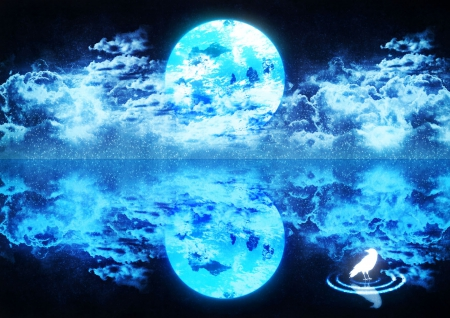 blue moon other amp anime background wallpapers on desktop