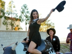 Bull Riding Cowgirl