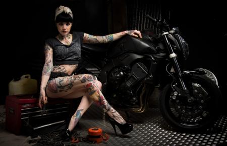 Bike Mechanic Models Female People Background Wallpapers On