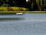 Sunbathing on the lake