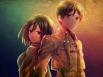 Mikasa ackerma and Eren jaeger