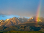 Rainbow over Argentina National Park