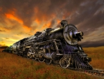 beautiful steam train art