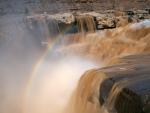 Rainbow over Waterfall in Sanya, China