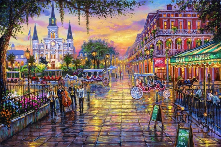 Jackson Square New Orleans Other Abstract Background