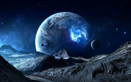 Fantastic Moon - moons, galaxy, moon, space