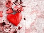 Rose Petals and Heart
