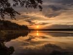 Sun Rays on Lake