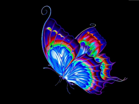 Beautiful Butterfly 3d And Cg Abstract Background Wallpapers