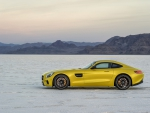 2015 Mercedes Benz AMG GT on the Bonneville Salt Flats