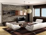 nice brown living room