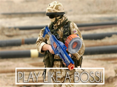 Play nerf like a boss other entertainment background - Nerf wallpaper ...