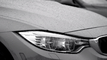 BMW M3 - sport, bmw, car, m3, grey, rain