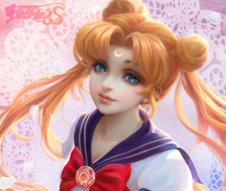Tsukino Usagi - pretty, blond, hd, cg, beautiful, potrait, sweet, magical girl, nice, tsukino usagi, twin tail, anime, sailor moon, beauty, face, anime girl, realistic, long hair, gorgeous, sailormoon, usagi, female, lovely, twintail, blonde, blonde hair, twintails, usagi tsukino, twin tails, blond hair, tsukino, girl