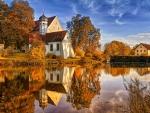 Stunning Autumn at lake
