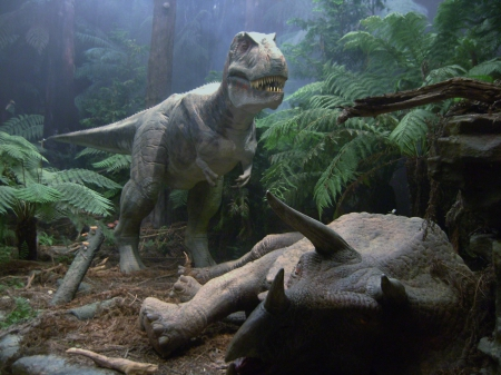 T-Rex - t-rex, model, large, jungle, dinosaur