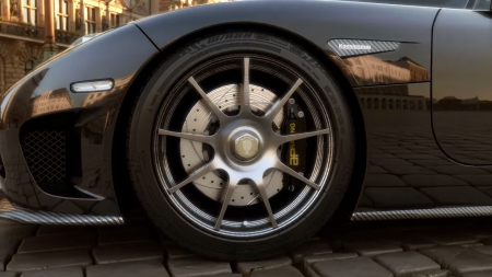 Koenigsegg - rim, car, black, koenigsegg, sports
