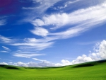 Green and Cloudy Sky wallpaper