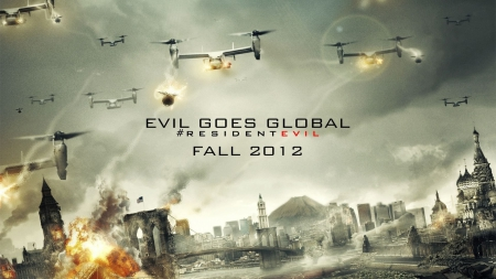 resident evil retribution - evil, retribution, resident, zombie