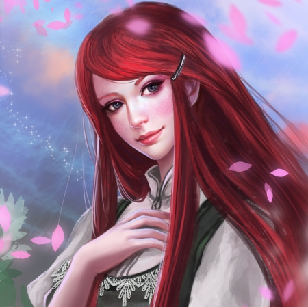 Red Hot Blooded Habanero - pretty, wonderful, redhead, kushina uzumaki, sweet, floral, nice, anime, uzumaki, shippuuden, beauty, anime girl, realistic, long hair, ninja, lovely, konoha, awesome, naruto, splendid, naruto shippuuden, beautiful, blossom, pink, uzumaki kushina, gorgeous, shinobi, female, red hair, girl, flower, kushina, petals