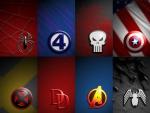 marvel symbol collage