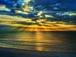 Amazing Sunset over Beach