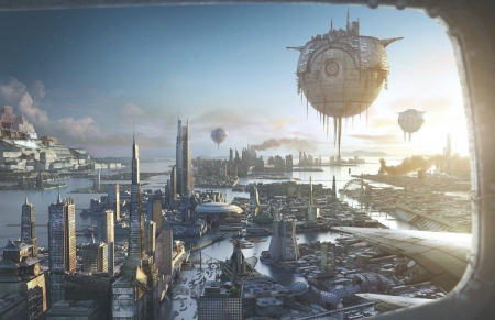 Distant Future - city, fruteristic, future, science, city scape, science fiction