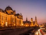 Dresden, Germany at Night