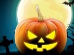 Halloween Full Moon Bat