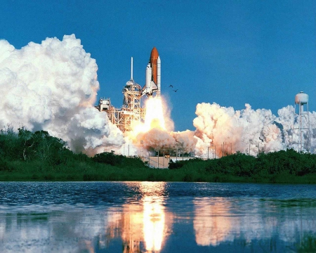 space shuttle discovery - launch, space, discovery, shuttle