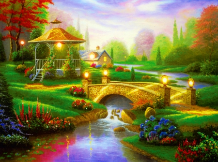 Village Painting Hd Beautiful countryside ...