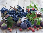 * Grapes and figs *