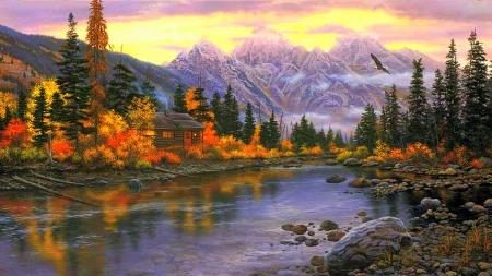 autumn mountain mountains nature background wallpapers on