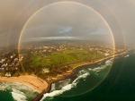 A Full Circle Rainbow over Australia