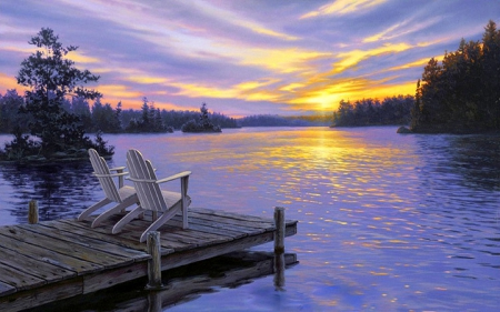 ★sitting At Sunset★ Sunsets Amp Nature Background