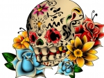 drawing of a sugar skull