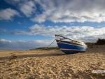 Boat on Brancaster beach