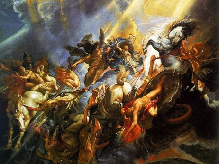 Greek Gods at war - Other & Abstract Background Wallpapers