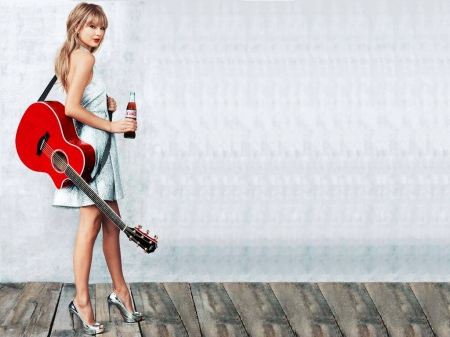 Taylor Swift - Music & Entertainment Background Wallpapers ...Taylor Swift Acoustic Guitar Wallpaper